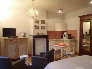 Knokke B&B gastenkamer met kitchenette.